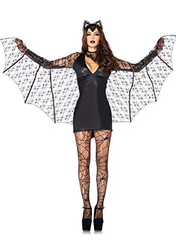 [Leg Avenue Women's 3 Piece Moonlight Bat Costume, Black, Small] (Woman Costume 2016)