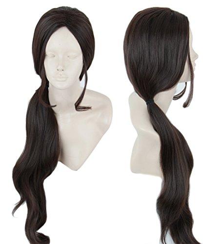 Topcosplay Womens Wig Long Cosplay Wig Halloween Costumes Princess Wig Nature Brown ()