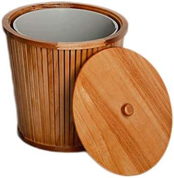 カバー、耐久性に優れ、レトロ、浴室用、キッチン、ランドリールーム、ホームオフィス、キッズルームを備えたモダンな木製ゴミ箱ごみ箱、 (Color : Brown)