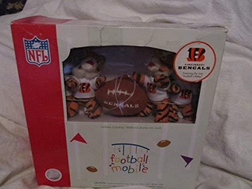(CINCINNATI BENGALS Team Mascots Plush Baby MUSICAL FOOTBALL MOBILE )