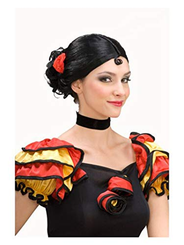 Forum Novelties Spanish Senorita Adult Wig, Black