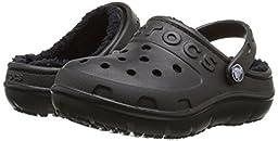 crocs Hilo Lined Clog (Toddler/Little Kid), Black/Black, 11 M US Little Kid