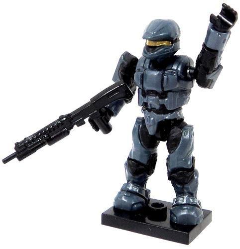 HA15-A5 Halo Wars Mega Bloks LOOSE Mini Figure Blue Steel UNSC Spartan Scout with Shotgun