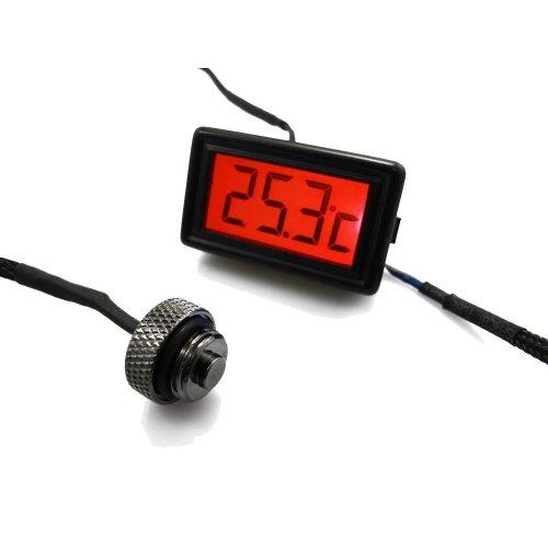12 opinioni per XSPC, Sensore di temperatura con G1/4″ Plug, LCD Display rosso della temperatura