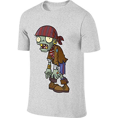 NICOTE Man Personalized Funny Top Plants Vs Zombies Zombie Tshirt Gray