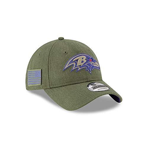 New Era Mens NFL 2018 Salute to Service 9Twenty Strapback Hat (Baltimore Ravens)]()
