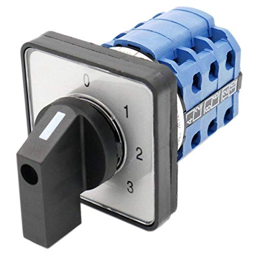 hangeover Switch LW28-20/0123.3 660V 20A 12 Terminals 4 Positions ()