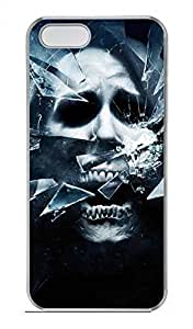 M Skull Customized DIY Hard Back For Case For Sam Sung Galaxy S4 Mini Cover Hard Transparent