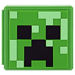Featuring the Minecraft Creeper, this Premium game card case stores up to 12 Nintendo Switch game cards and 12 micro SD cards simultaneously. The compact case is extremely durable and easy to take on-the-go. Form-fitting rubber slots keep your game c...
