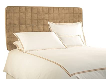 Beau BackDrop Upholstered Twin Tribeca Microsuede Headboard,Taupe