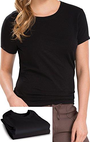 womens-3-pack-short-sleeve-black-cotton-t-shirt-pajamajeans-g06077