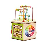 LIUFS-TOY Large Hexahedron Round Bead Treasure Box 3-6 Years Old Boys and Girls Puzzle Beaded Wooden Toys ( Color : Hexahedron )