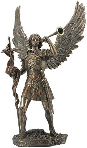 13 Inch Archangel – Saint Gabriel with Horn Cold Cast Bronze Figurine