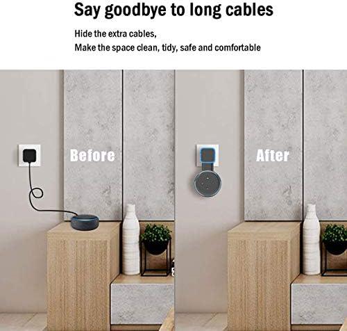 Soporte de montaje en pared Echo Dot, soporte de montaje en pared de salida, accesorios que ahorran espacio para el altavoz inteligente Dot de 3.a generación, accesorios inteligentes Echo Dot con gestión de cables, ocultación de cables desordenados (negro, 2 unidades) 9