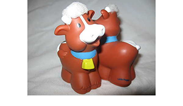 Fisher Price Little People Farm Barn Cow Calf Baby Christmas Manager Nativity