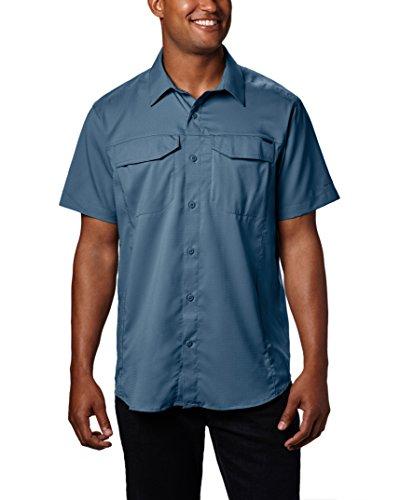 Columbia Mens Silver Ridge Lite Short Sleeve Shirt, Steel, Medium