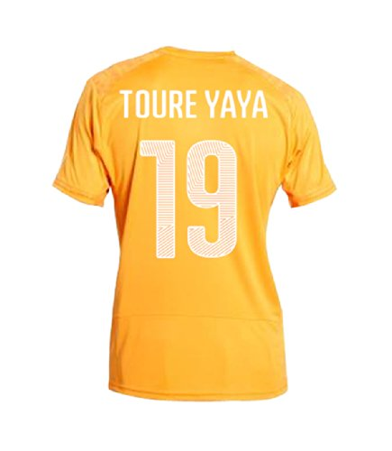 PUMA TOURE YAYA #19 Ivory Coast Home Jersey World Cup 2014 (2XL)