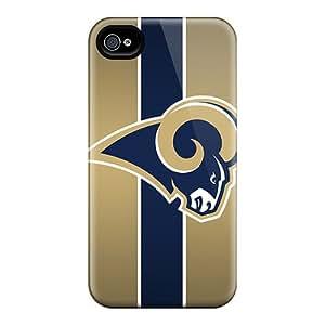 New TEQ781UscY St. Louis Rams Skin Case Cover Shatterproof Case For Iphone 4/4s