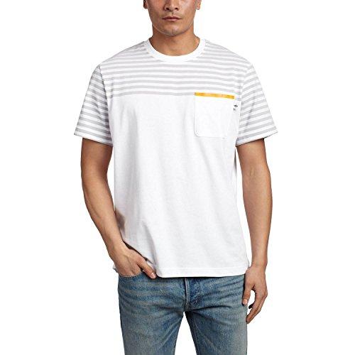 adidas Originals Men's Stripe Logo Short Sleeve T-Shirt - White - - Us Polo Logo Original