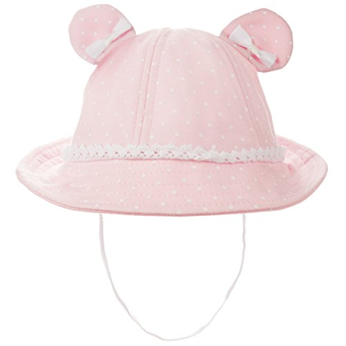 b71f98a3 Eriso Baby Girls Toddler Bear Bucket Hat Sun Protection(12-24 Months, Pink