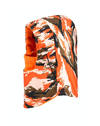 Ewanda store 6 in 1 Camouflage Camo Print Thick Thermal Fleece Balaclava Hood Wind Stopper Ski Face Mask Warmer(Orange)