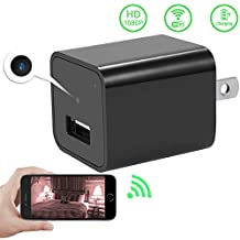 WiFi Hidden Spy Camera Charger Adapter, Colisivan 1080P HD USB Wall Charger with Adjustable Resolution, Automatic Motion Detection and Built in 8G Internal Memory Support iPhone / Android Smartphone APP Remote View For Home Security.