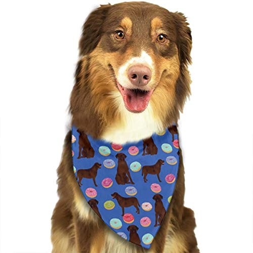 FortniteCOM Dog Bandana Chocolate Labrador Triangle Bibs Scarf Printing Kerchief Set Accessories Dogs Cats Pets ()