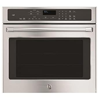 GE Cafe CT9050SHSS 30 Single Electric Wall Oven with 10-Pass Bake Element, in Stainless Steel.