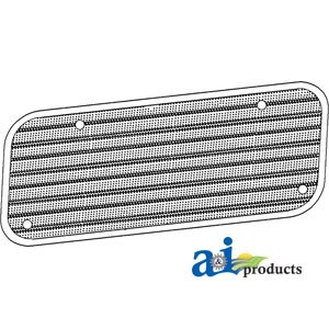A&I Products Screen, Upper Grille (1965-3/1968) Replacement for Ford - New ... ()