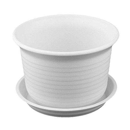 plastic plant pot white - 7