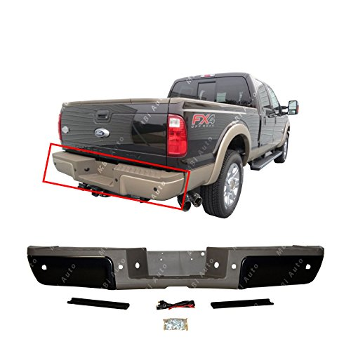 (MBI AUTO - Primered Steel, Rear Bumper Assembly for 2013 2014 2015 2016 Ford F250 F350 F450 Super Duty Pickup 14-16 W/Park, FO1103180)