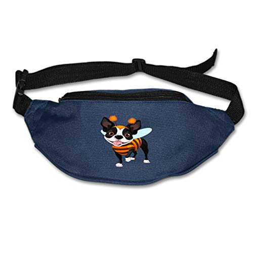 Running Belt Waist Pack, Sports Runner Bag Pouch Adjustable Fanny Pack for iPhone Samsung, Sweatproof Workout Waist Bag for Men Women Hiking Fitness Jogging -Halloween-Boston-Terrier -