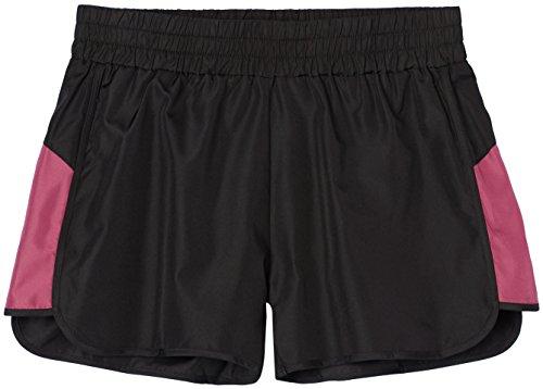 FIND Pantalones Cortos de Deporte para Mujer Negro (Black/damson)