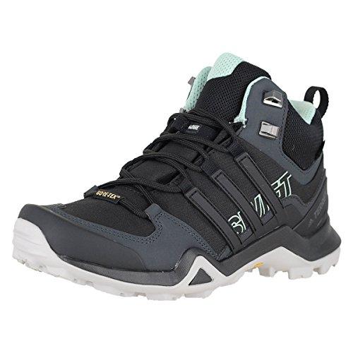 adidas Terrex Swift R2 Mid GTX W Black/Black/Ash Green Womens Hiking Boots Size 12M