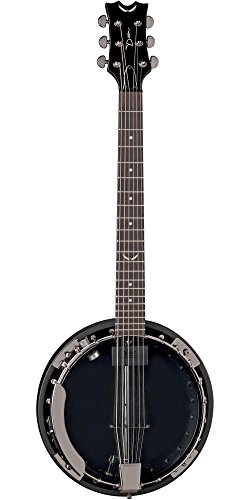 [Dean BW6CEBC Backwoods 6 Banjo with Pickup, Black Chrome] (Dean Backwoods 6 String Banjo)