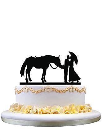 Amazon.com: Western Style Wedding Cake Topper- Bride and Groom ...