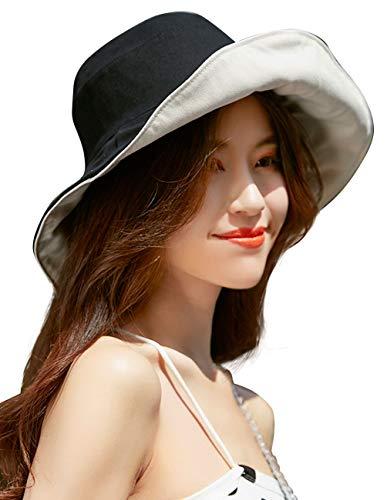 Maylisacc Sombrero De Pescador Reversible Sombrero Cubo De Ala Ancha Plegable Sombrero Playa Mujer Algodon Verano Proteccion Solar Para Pesca Al Aire Libre
