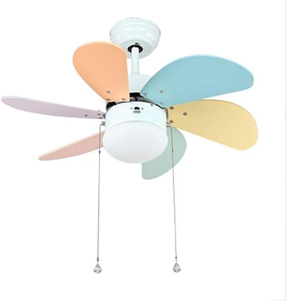 Lámparas de araña Ventilador De Techo Luz Ventilador Eléctrico Colgante LED Ventilador Eléctrico Luz Dormitorio Interruptor De Cuerda con Control Remoto (Color : Blanco, Size : 76 * 40cm): Amazon.es: Hogar