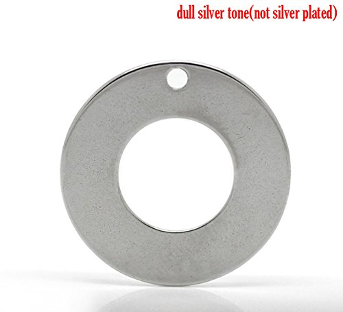 - 20pc Stainless Steel Round Washer Stamping Tag Pendant Blanks, 20mm