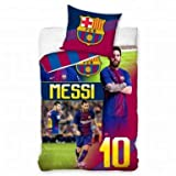 Official Lionel Messi & FC Barcelona Single Duvet Cover & Pillowcase Set