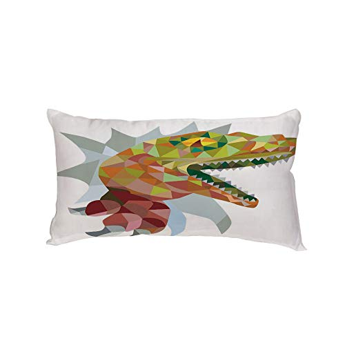 iPrint Polyester Car Neck Pillow,Reptiles,Multi Colored Mosaic Wild