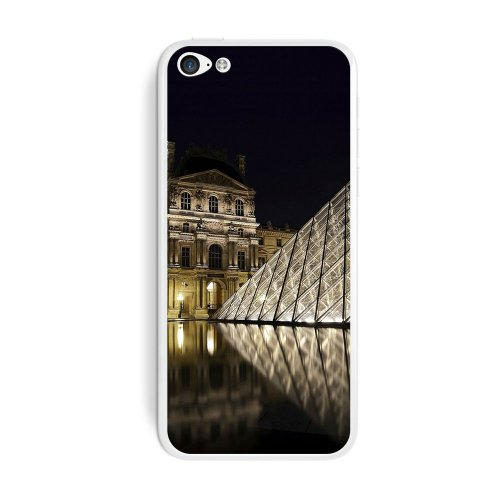 Graphics and More Louvre Museum Paris France Protective Skin Sticker Case for Apple iPhone 5C - Set of 2 - Non-Retail Packaging - - More Museums And