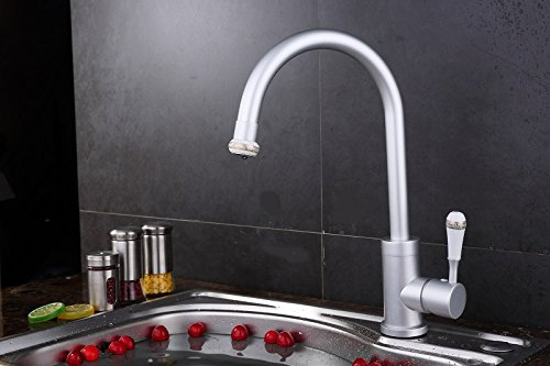 Furesnts Modern home kitchen and Bathroom Sink Taps Space aluminum elbow thrown up hot and cold Bathroom Sink Taps,(Standard G 1/2 universal hose ports)