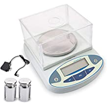 3000 x 0.01g Laboratory Scale Analytical Precision Balance Scale LCD Digital Electronic Analytic Balance 10mg Scientific Lab Instrument with 500g Calibration Weight and Power Adapter