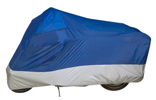 Dowco Guardian 26010-01 UltraLite Water Resistant Indoor/Outdoor Motorcycle Cover: Blue, Medium
