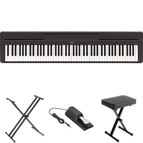 Yamaha P45 Digital Piano with X-Stand, Bench, and Pedal by Yamaha