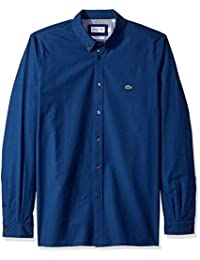 Men's Long Sleeve Slim Fit Button Down Stretch Oxford