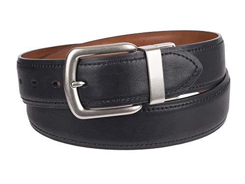 Levi's Men's 1.5 in. Reversible Leather Belt With Logo, Black/Tan, 32