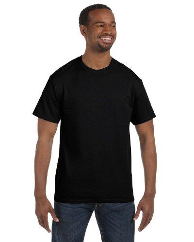 Hanes Mens Tagless 100% Cotton T-Shirt, 4XL, Blk