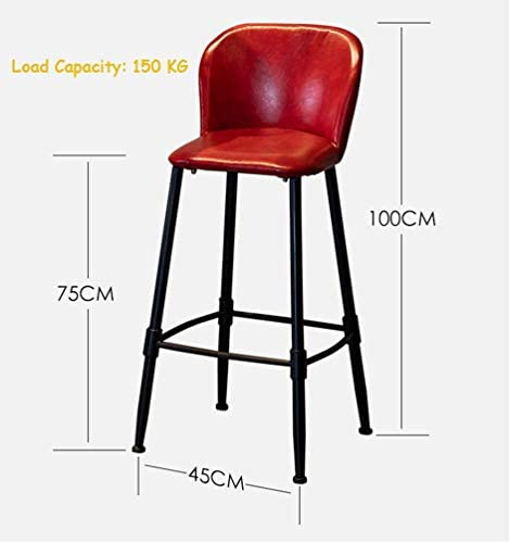 QSHG Chairs Modern Stylish Design Pyramid Style Shape Anti-scratch Backrest Pu Seat Comfortable High Table Etc Stable Frame Durable -are Gift